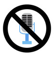 no voice in microphone ban karaoke badge vector image vector image