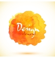 orange isolated watercolor stain vector image vector image