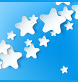 Paper 3d star background vector image