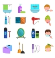 Personal care products flat icons set vector image vector image