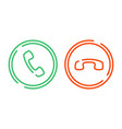phone call icons set vector image vector image