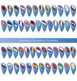 pin flags sovereign european countries vector image