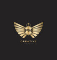 pm letter initial with royal luxury logo template vector image vector image