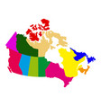 political map of canada vector image vector image