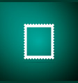 postal stamp icon isolated on green background vector image