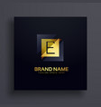 premium letter e concept logo design vector image vector image