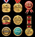 premium quality golden labels collection vector image vector image