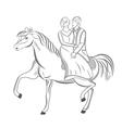 prince and princess vector image