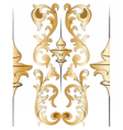 Royal floral golden ornament element pattern vector image