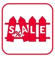 sale fence sign vector image vector image