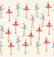 seamless background whitn ballerina or ballet vector image vector image