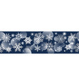 seamless banner with snowflakes on blue background vector image vector image