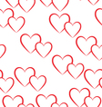 Seamless pattern of red hearts vector image vector image