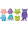 set of monster character vector image