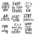 set posotive thinking quotes and expressions vector image