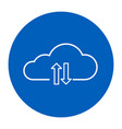 simple line icon sign - cloud storage for your vector image vector image