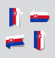 slovak flag stickers and labels vector image vector image