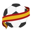 Soccer ball with spain flag vector image vector image