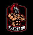 sparpartan warrior logo design vector image vector image