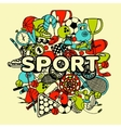 Sport Doodle Collage vector image vector image