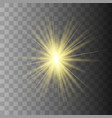 star explodes on transparent background vector image