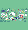 summer camp festival people or tourists living vector image vector image