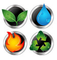 symbols of renewable energy and recycling vector image vector image