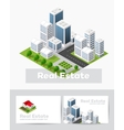 Templates of business cards vector image vector image