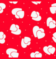 the red love seamless pattern with hearts vector image vector image