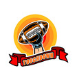 Touchdown Badge Comic Style vector image vector image