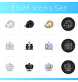 trendy tableware icons set vector image vector image