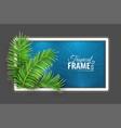 tropical banner frame design vector image