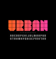 urban style font design alphabet letters and vector image vector image