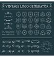 Vintage Logo Generator vector image vector image