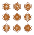 Winter snowflakes sweets pattern vector image vector image