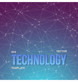 Wireframe Technology Background vector image vector image