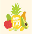 world health day festive composition with elegant vector image vector image