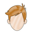 young boy student avatar people head vector image vector image