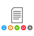 document management line icon file sign vector image