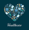 heart made up of orthopedic medical icons vector image