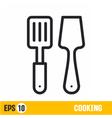 line icon spatulas vector image