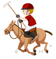 Polo player riding on horse vector image