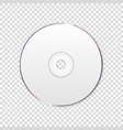 3d realistic white cd dvd closeup isolated vector image vector image