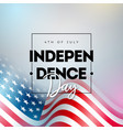 4th july independence day usa vector image vector image