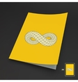 A4 Business Blank Infinity Symbol vector image