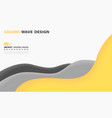abstract tech yellow line overlap design on white vector image vector image