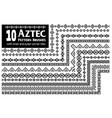 aztec pattern brushes collection vector image
