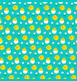 baby chick and hatching egg pattern on blue vector image