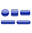 blue buttons collection of matted shaped signs vector image