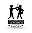 Boxing design Tournament icon White background vector image vector image